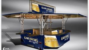 Ausschankwagen neues Karlsbergdesign