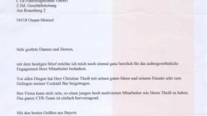 Brief von Herrn Follmann