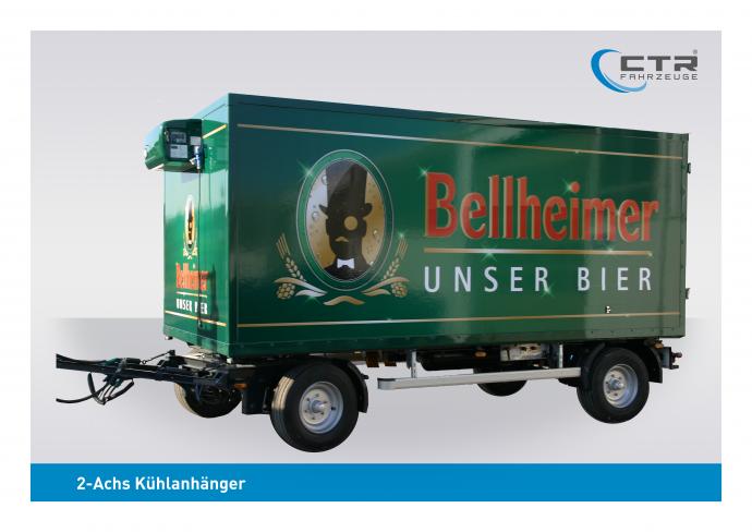 CTR-Fahrzeuge Kühlanhänger 2-Achs Bellheimer