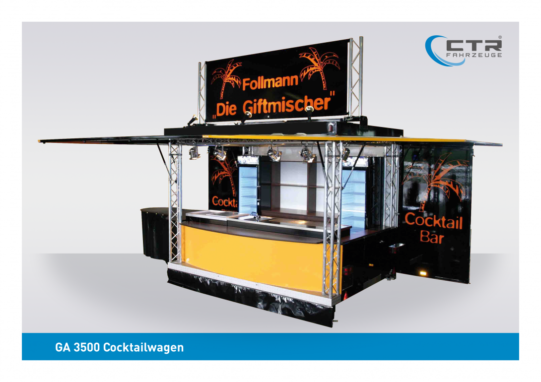 Mobile Cocktailbar GA 3500 Cocktail Follmann Giftmischer