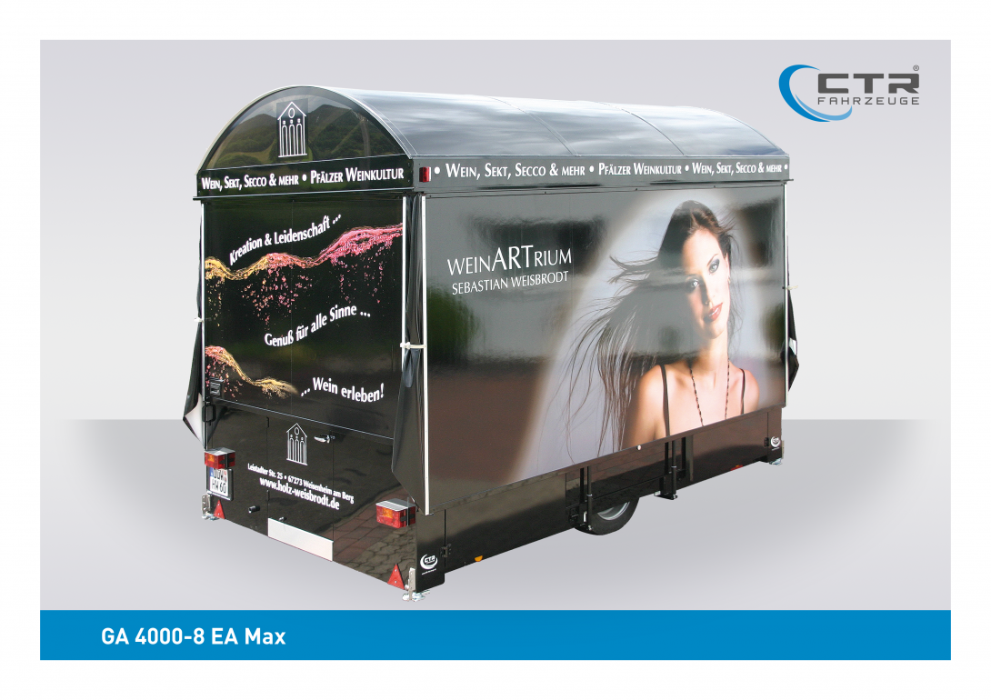 Weinausschankwagen GA 4000-8 EA Max Wein Artrium geschlossen
