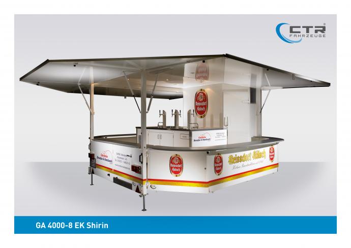 Ausschankwagen GA 4000-8 EK Shirin Bonefass Reissdorf