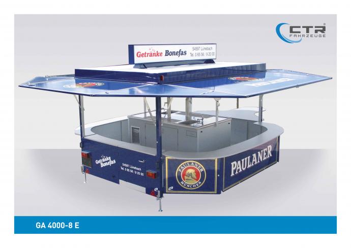 Ausschankwagen GA 4000-8 E Bonefas Paulaner