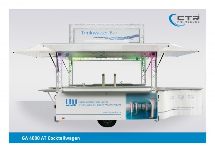 Ausschankwagen GA 4000 AT Rechteck Landeswasserversorgung Stuttgart