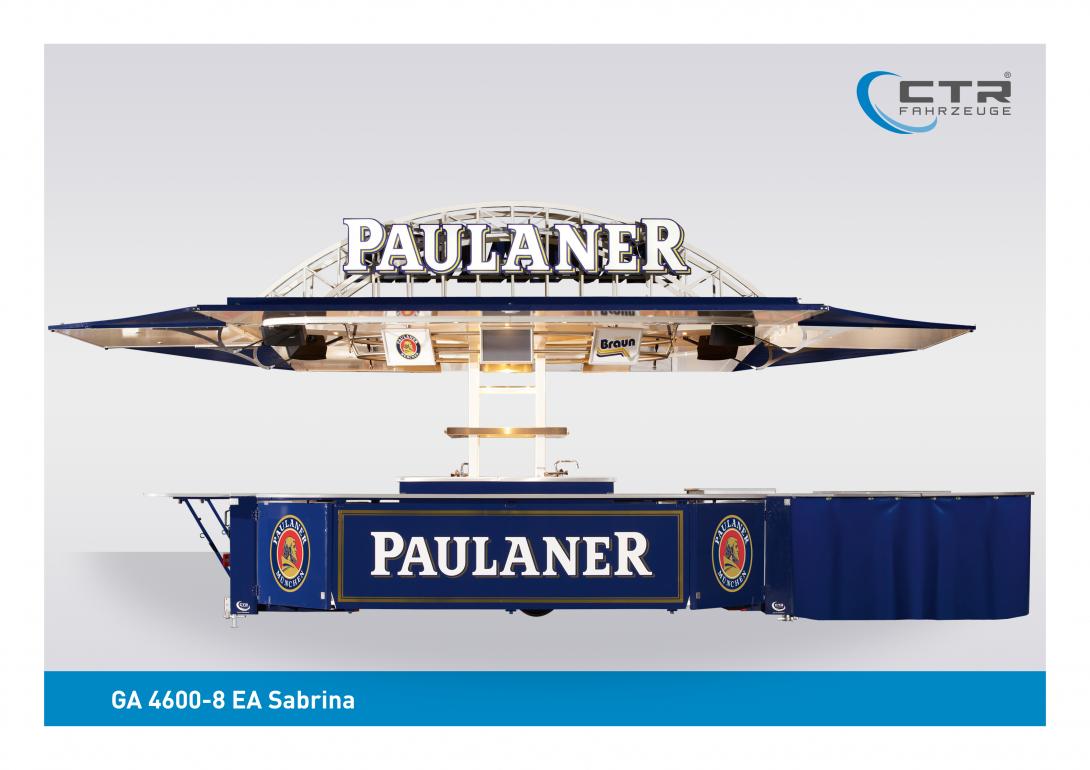 Ausschankwagen GA 4600-8 EA Sabrina Braun Paulaner