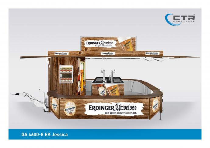 Ausschankwagen GA 4600-8 EK Jessica Erdinger Urweisse