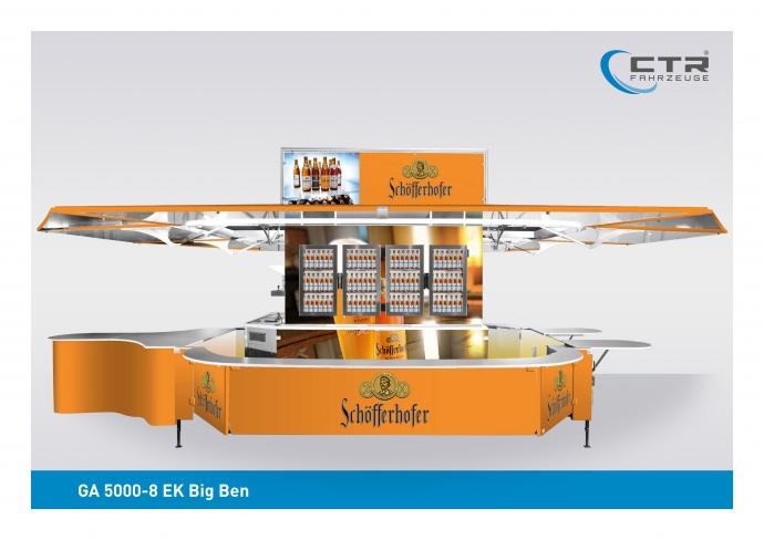 Ausschankwagen GA 5000-8 EK Big Ben Schoefferhofer