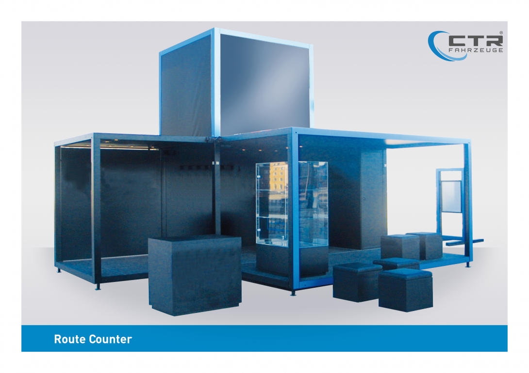 Promocube Route Counter blau