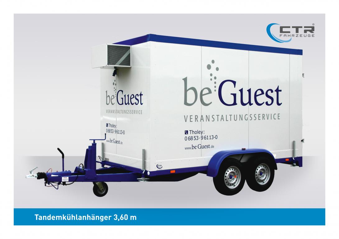 CTR-Fahrzeuge Kühlanhänger TKA 3,60 beGuest