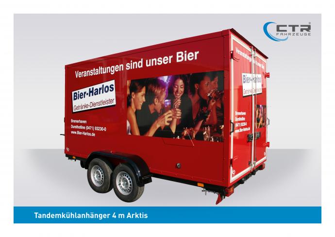 CTR-Fahrzeuge Kühlanhänger TKA Arktis Bier-Harlos