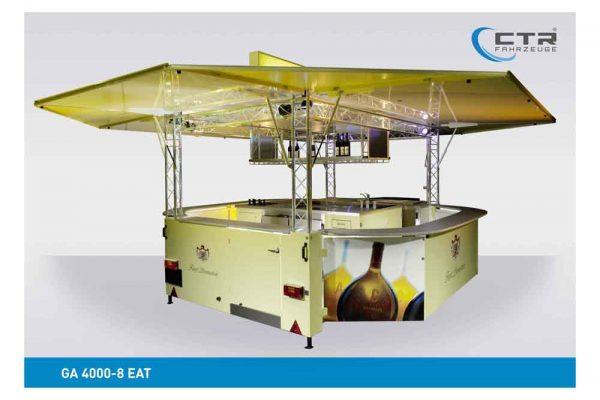 Absenkbarer Weinverkaufswagen 4000 mit Traversen