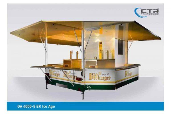 Ausschankwagen Ice Age mit Kühlhaus