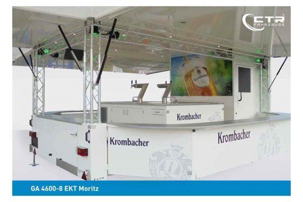 Ausschankwagen mit Traversen Kühlzellen Theke