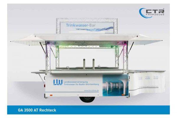 Ausschankwagen Wasser mit Traversen Dachtransparent Rechteck