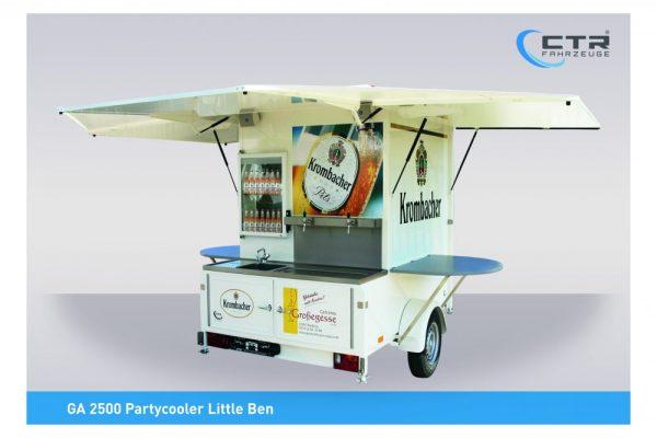 Kleiner Ausschankwagen mit Kühlzelle