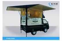 Kleines Verkaufsmobil als Innensteher'