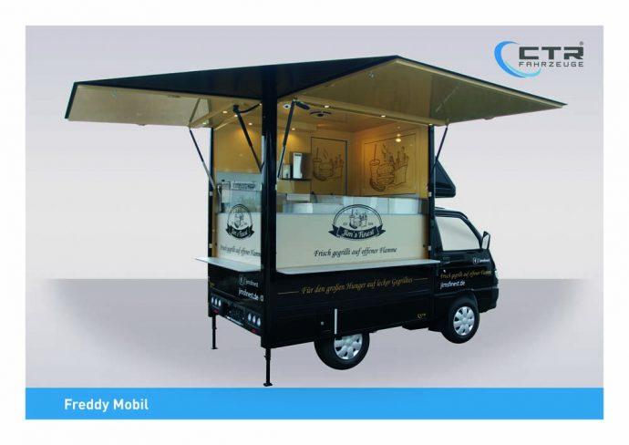 Kleines Verkaufsmobil als Innensteher