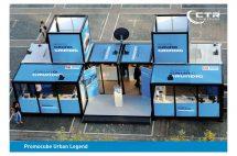 Promotionstand Promocube Urban Legend für die Firma Grundig'