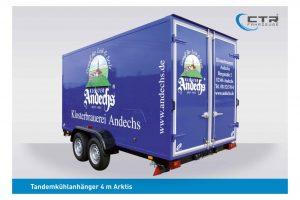 CTR-Fahrzeuge Kühlanhänger 4 m Klosterbrauerei Andechs'