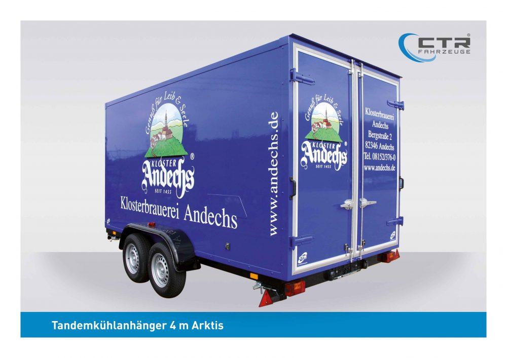 CTR-Fahrzeuge Kühlanhänger 4 m Klosterbrauerei Andechs