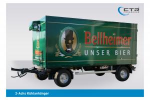 CTR-Fahrzeuge Kühlanhänger 2-Achs Bellheimer'