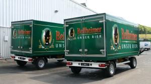 2-Achs-Kühlanhänger für die Bellheimer Brauerei