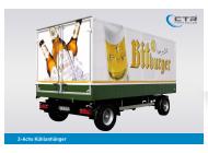 CTR-Fahrzeuge Kühlanhänger 2-Achs Bitburger