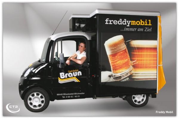 Mega Freddy Mobil KOM Braun