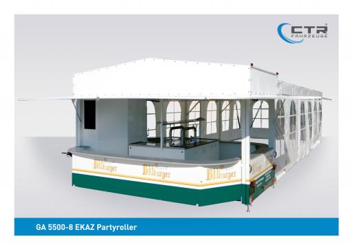 Eventfahrzeug 5500-8 EKAZ Partyroller Krietemeyer Bitburger'