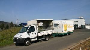 Abholung eines mobilen Bierstands GA 4000-8 EK Shirin durch Getränke Keil aus Landstuhl