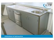Arbeitstheke Spülmaschine Becken