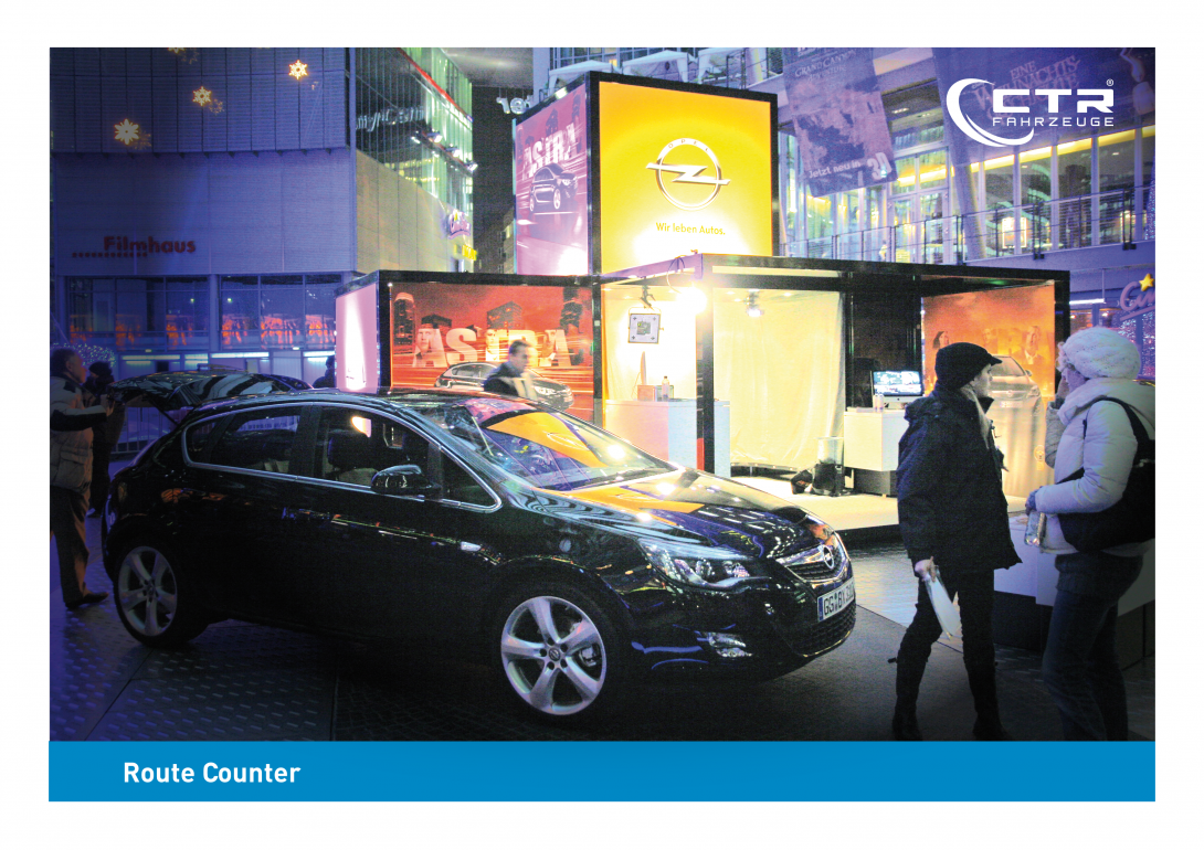 Promocube Route Counter Art Life Opel Berlin