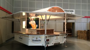 Ausschankwagen Modell GA 4000-8 EK Shirin an Getränke Goldt, ausgestellt auf der NEV Frühjahrsmesse in Hannover.