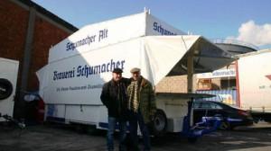 Ausschankwagen an Schumacher Alt