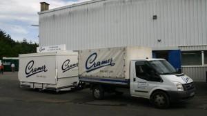 Ausschankwagen an die Eifler Brauerei Cramer bei der Abholung
