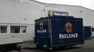 Bierausschankmobil 4000-8 EA Traverse im Design der Paulaner Brauerei