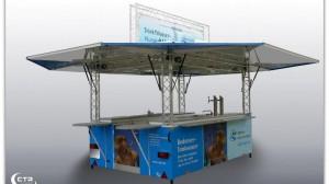 Bodensee Wasserversorgung - erfolgreicher Auftritt mit Präsentationstheke von CTR