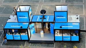 Die Verbindung von zwei Promocube Big Square erlaubt den Auftritt auf Großevents