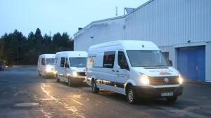 Drei Crafter der Firma Estrich Schlag auf unserem Firmengelände in Osann-Monzel CTR Fahrzeuge