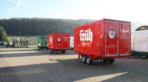 Drei Kühlanhänger für Massa Getränke in Troisdorf