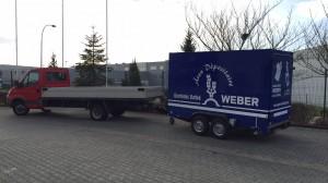 Ein Tandem-Kühlanhänger für Getränke Weber aus Echternach in Luxemburg