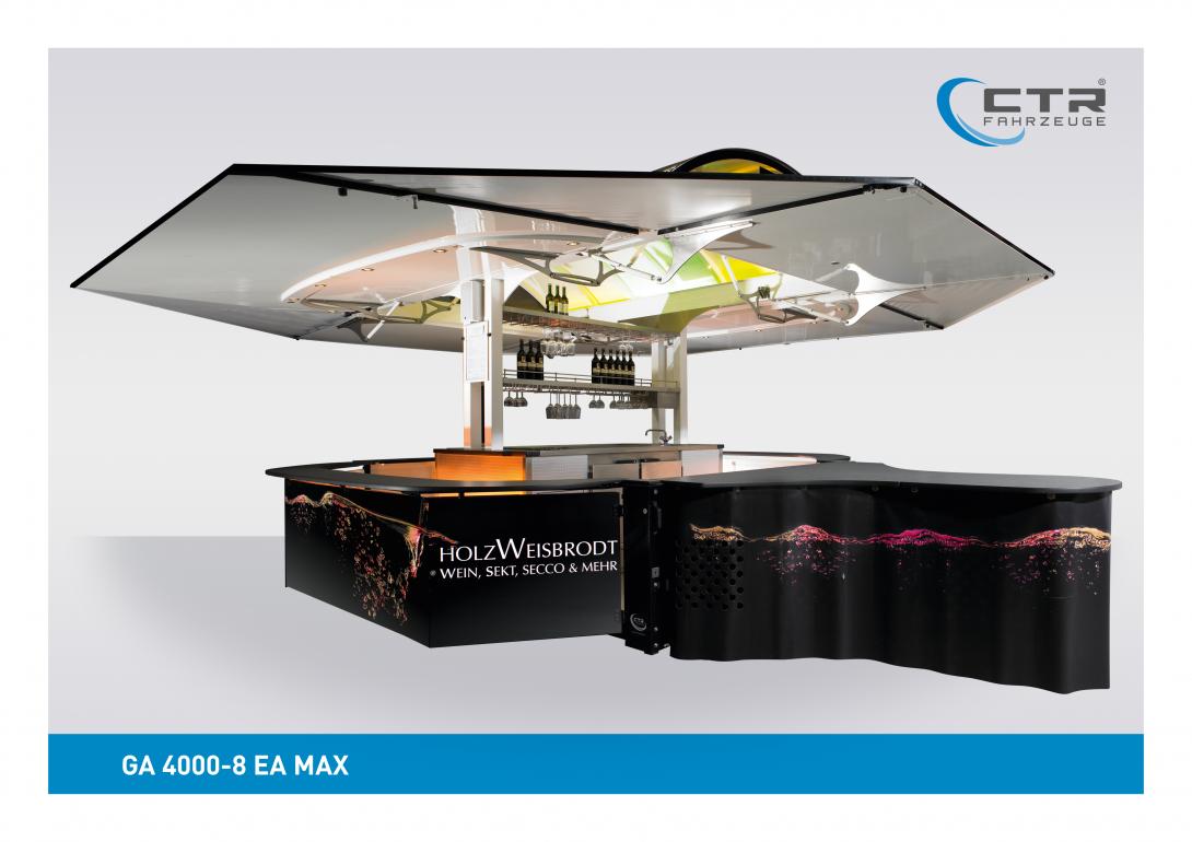 Weinausschankwagen GA 4000-8 EA Max Wein Artrium