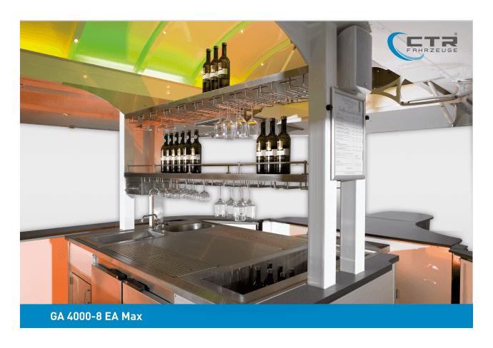 Weinausschankwagen GA 4000-8 EA Max WeinArtrium Thekengestaltung