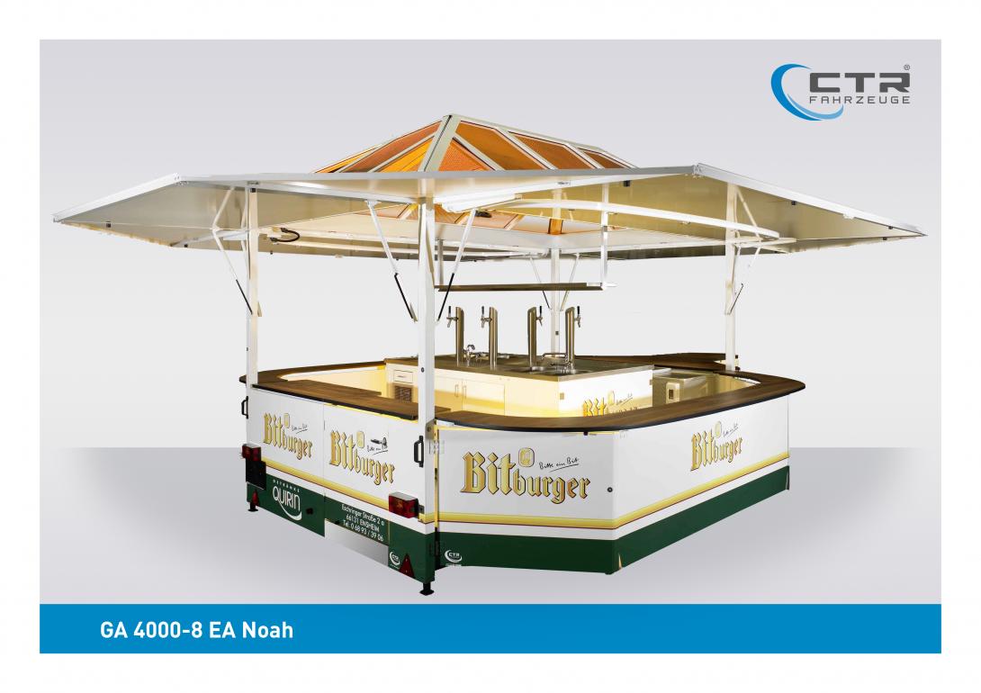 Ausschankwagen GA 4000-8 EA Noah Quirin Bitburger