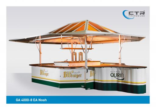 Ausschankwagen GA 4000-8 EA Noah Quirin Bitburger'