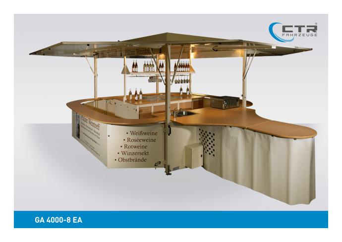 Weinausschankwagen GA 4000-8 EA Pfälzer Weintreff