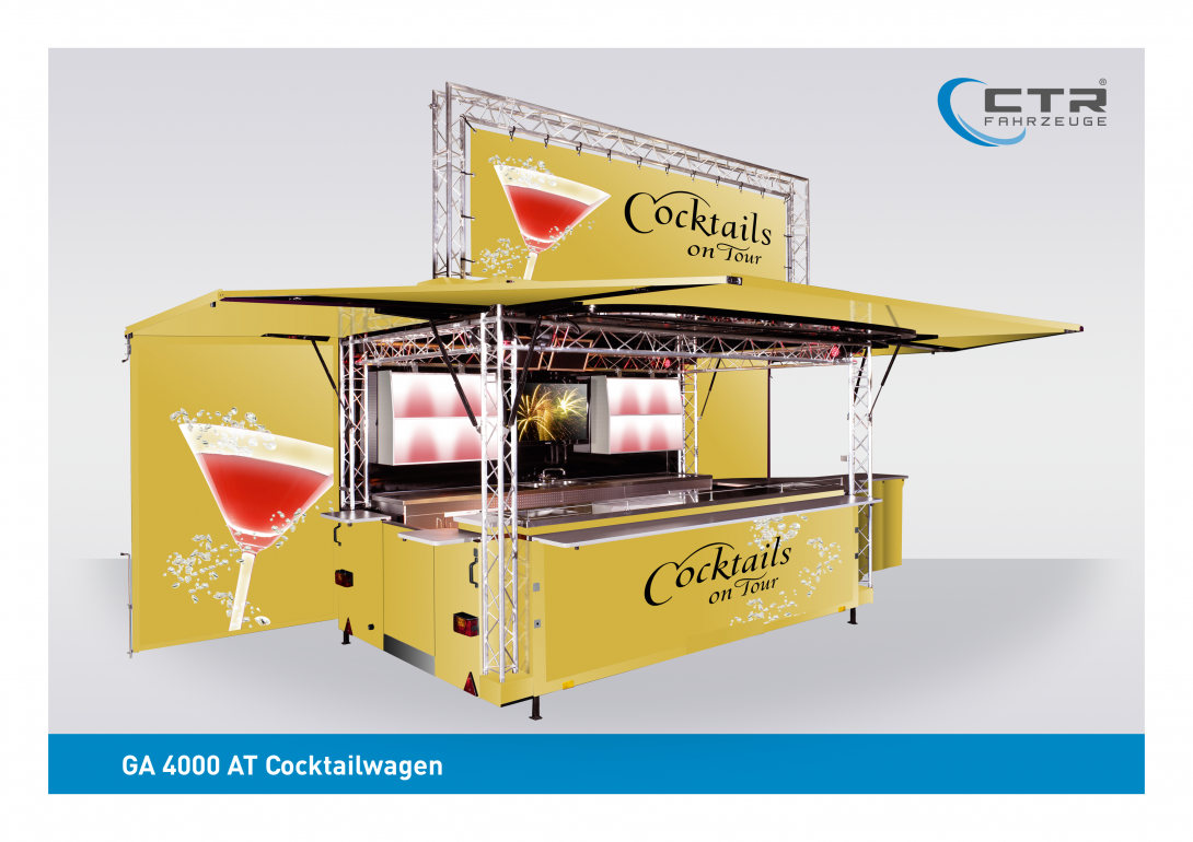 Mobile Cocktailbar GA 4000 AT Cocktail gelb Yellow