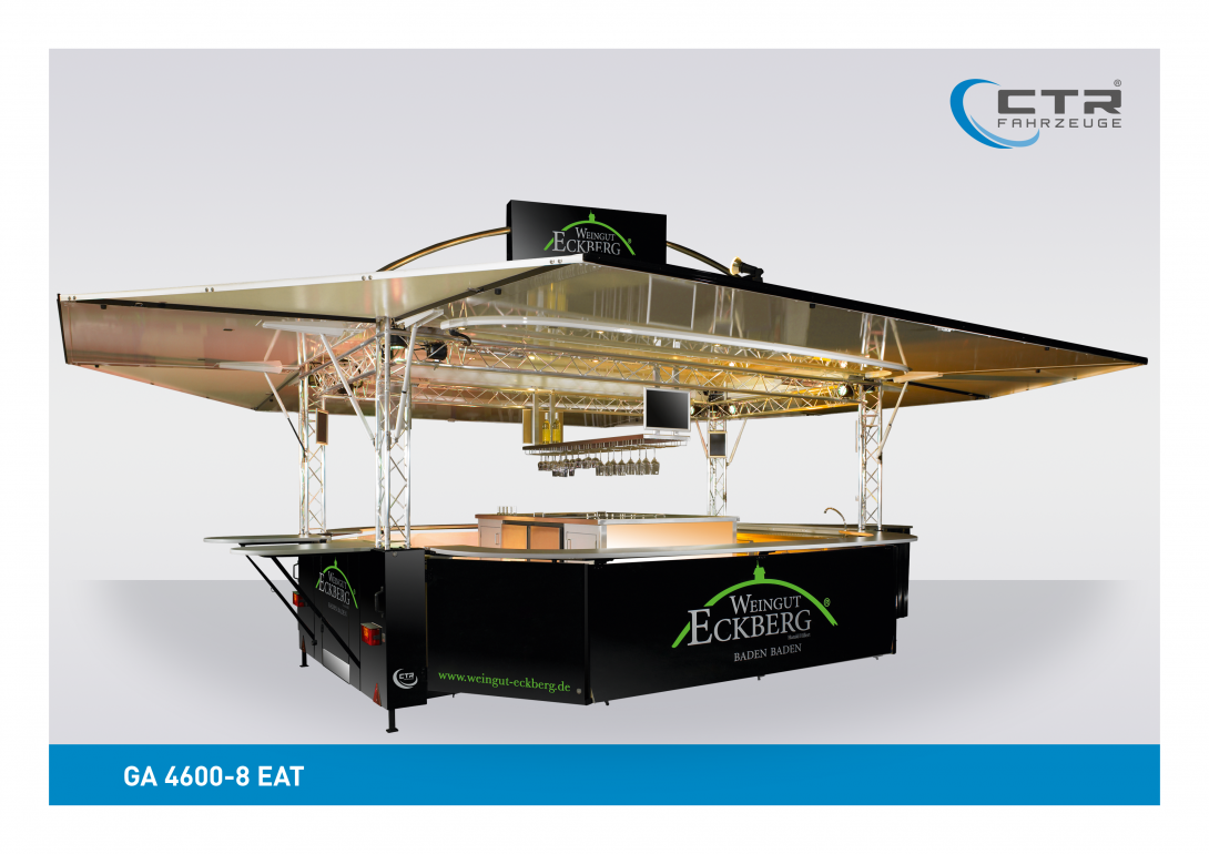 Mobile Cocktailbar GA 4600-8 EA Eckberg mit Dachtransparent