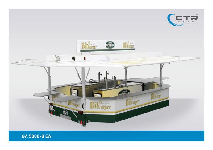Ausschankwagen GA 5000-8 EA Längstheke Gross Bitburger