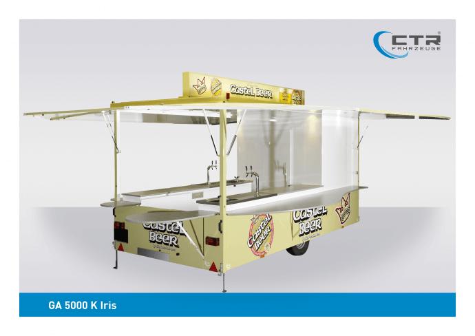 Ausschankwagen GA 5000 K Iris Castel Beer